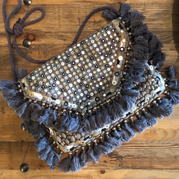 Anthropologie Handbags - Anthropologie Fringe Augusta Purse